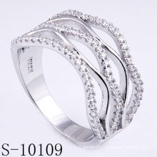 New Design Micro Pave 925 Silver Zirconia Women Ring (S-10109)