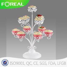 Weißer Farben-Metalldraht 3-tiers 11PCS kleiner Kuchen-Halter