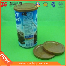 Metal Can Container 76mm Nutrition Powder Plastic PE Lid