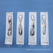 Sutura de poliéster estéril no higiénico para uso individual