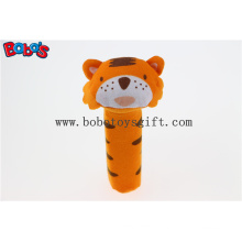 Baby Cute Tiger Animal Stick Rattle Toys Handbell Plush Toy Doll Bosw1035