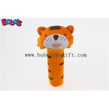 Bebê Cute Tiger Animal Vara Rattle Brinquedos Handbell Boneca Plush Toy Bosw1035