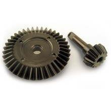 CNC Steel Bevel Gear dan Pinion Shaft Set