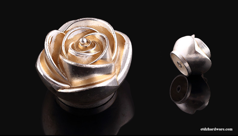 High Quality Fancy Rose Design Vintage Drawer Handles