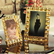 Presente elegante europeu do quadro da foto do cristal de vidro