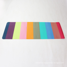 OEM custom colorful Stitching tpe yoga mat with carry strap