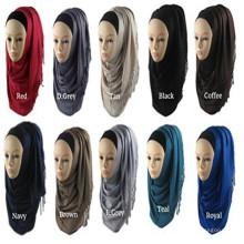Écharpe solide confortable de Pashmina Rayon Hijab des femmes élégantes