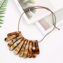 European popular custom fashion jewelry handmade rope acrylic acetate women choker chunky necklace