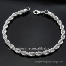 Wholesale Factory Price Sterling Silver Charm Bracelet BSS-011