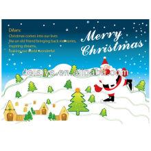 Рождество бумажная карточка для приветствия
