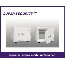 Coffre-fort à serrure clé petit blanc acier domicile/bureau (SJD25)