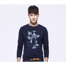 China-Fabrik-Männer lange Hülsen kundengebundenes Drucken-T-Shirt