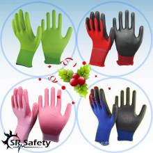 SRSAFETY gloves with white pu coated work gloves,china supplier / great quality work glove with lowest price