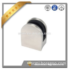 Brushed Finish - round Profile - Round Back Stainless Steel Glass Clips