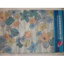 camisa de popeline impressa 60/40 tecido de algodão / poliéster cvc