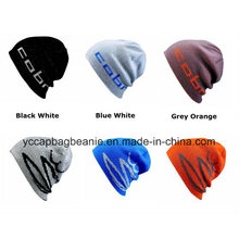 100%Acrylic Ski Sport Knitted Reversible Beanie