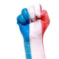 World cup football fans flag face paint