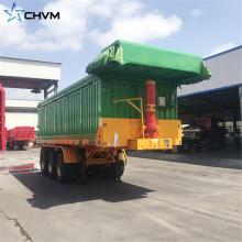 Benne basculante arrière à 3 cylindres hydrauliques de 100 tonnes