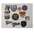 Custom laser woven embroidery patch for bag