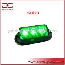 LED verde emergencia advertencia luces tablero Led luces faros (SL623)