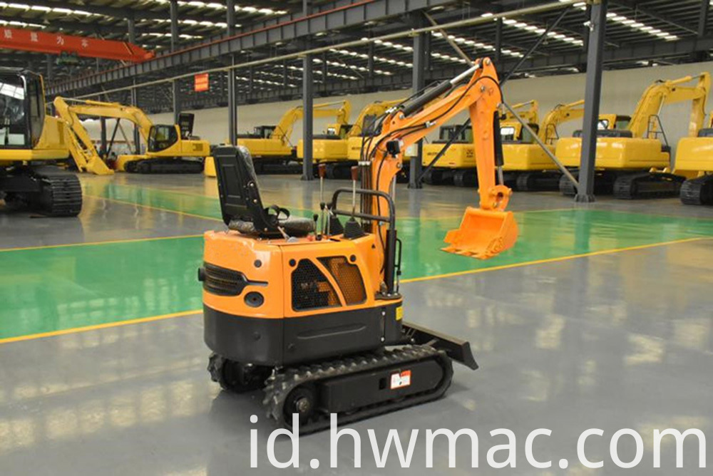 1t crawler walking mini excavator