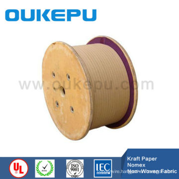 Kraft paper covered wire,mark paper coverd flat strip,Paper covered aluminium wire