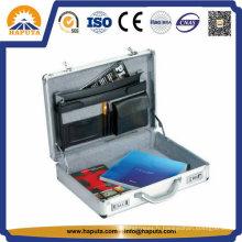 Mallette aluminium personnalisée de fichier avec 3 poches (HL-2601)