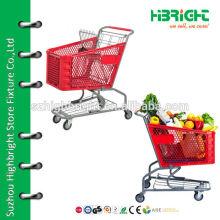 supermarket plastic shopping trolley
