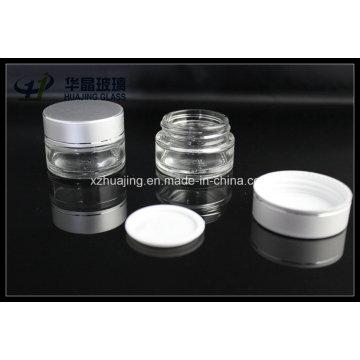 Frascos de 20g 30g 50g vidro claro vazio cosmético 5g 10g, 15g