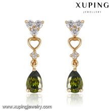 91671 xuping 2016 Nouveau Design Fashion Girls Teardrop Earring