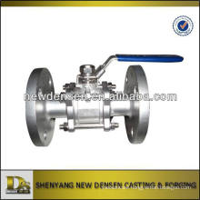 OEM 316SS investment casting 3 way Manual ball valve