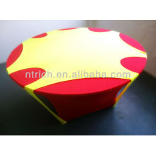 élégant couvercle supérieur avec trou, spandex Lycra extensible tissu de table, couverture de table, linge de table,
