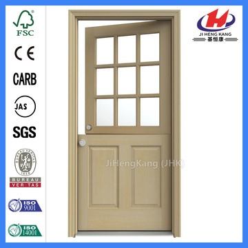 JHK-001-CS White Oak Wood Simple Panels  Semi Solid Door