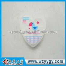 Benutzerdefinierte Herz Form Kunststoff Pillenbox, neue Druck PVC-Pill-box