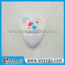 Caja de plásticos de la píldora forma corazón personalizado, impresión nueva caja de la píldora de PVC