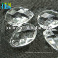 jewelry ornaments white transparent cross bore faceted acrylic water drop beads