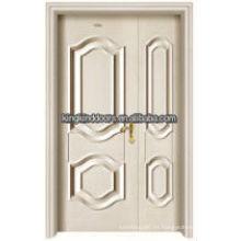 Puerta doble interior rey - 05D de madera de acero residencial lujo