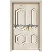 Residential luxury steel wood inner double door King-05D
