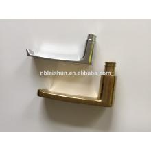 Manija de aluminio de la puerta corredera del cuarto de baño y cerradura y placas de cubierta