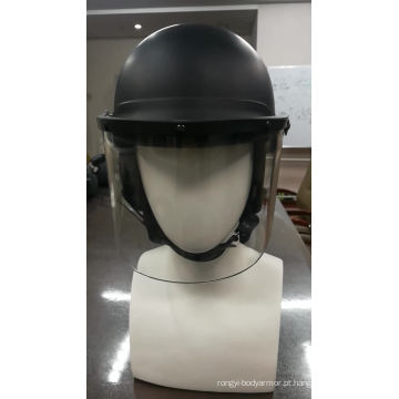 Capacete transparente personalizado da polícia do controle de motim da viseira de cara do anti capacete da polícia de motim com material do ABS ou do PC