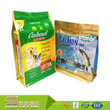 China Hersteller Oem Maßgeschneiderte Bestellung 8 Side Sealed Pet Food Verpackungsbeutel Kunststoff Laminiert Beutel