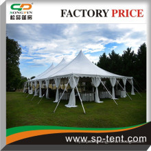 On sale Heavy duty cheap gala pole tent with foldable tables and chairs for outdoor wedding party events 40 feet x 100 feet