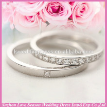 WR0001 anéis brilhantes para anéis elegantes de casal
