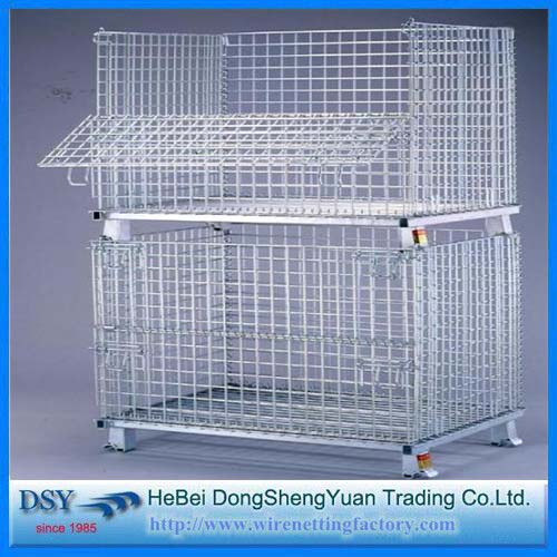 Heavy Duty Rigid Wire Container Storage Cage