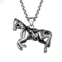 Заявление Панк Нержавеющей Стали Животное Лошадь Кулон Ожерелья