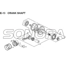 E-13 CRANK SHAFT JET 14 XS175T-2 Per SYM Spare Part Top Quality