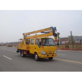 2018+new+ISUZU+bucket+basket+crane+truck