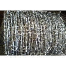 Arame farpado galvanizado com molas quentes para cercas
