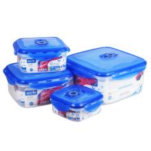 4 em 1 conjunto Microwavable anexado-tampa caixas de armazenamento de alimentos à venda