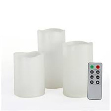 Timer outdoor flameless LED candle set